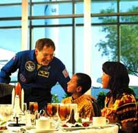 lunch with astronaut
